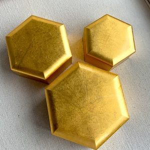GORGEOUS VINTAGE GOLD NESTING BOXES (3)